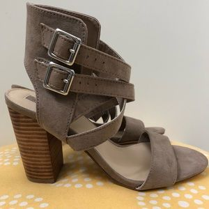 Block Sandal Strap Heels